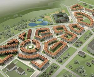 Визуализация проекта малоэтажного жилого комплекса &laquo;Норманндия&raquo;</p>