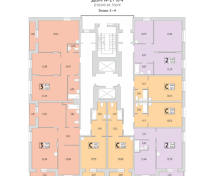 Дом №279/4, планировки 3-4 этаж