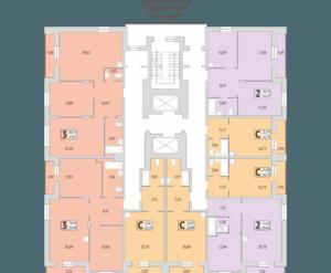 Дом №279/4, планировки 5-12 этаж