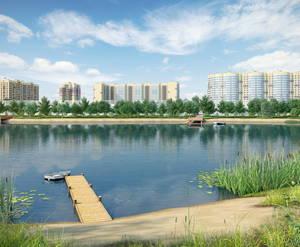 ЖК «Лидер парк». Вид на озеро