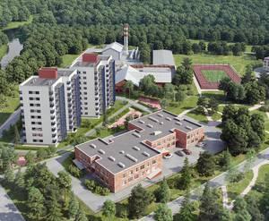 ЖК «Новый дом в Луге»: вид сверху (визуализация)