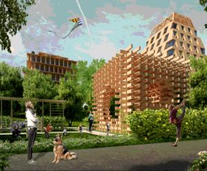 ЖК «Wood City»: визуализация