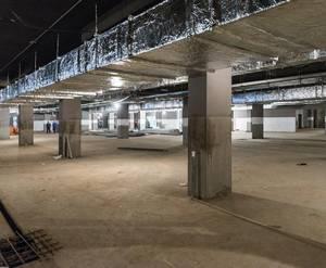 ЖК «Лесопарковый»: ход строительства (монтаж инженерных систем и выполнение черновой отделки паркинга)