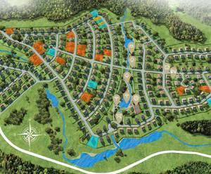 Коттеджный поселок «Ла-Манш»: визуализация