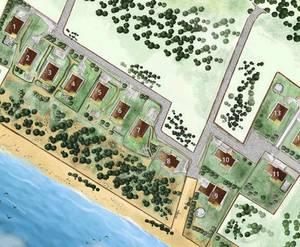 ЖК «Репино Бриз»: схема расположения коттеджей
