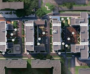 МФК Promenade: визуализация с номерами корпусов