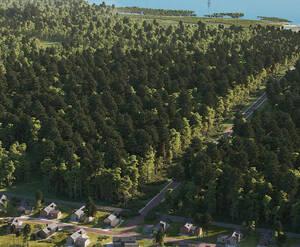 КП «Лес и пляж»: визуализация