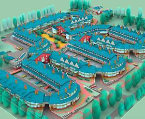 <p>План застройки жилого комплекса &laquo;Дубки&raquo;</p>