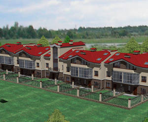 Визуализация проекта малоэтажного жилого комплекса «Суздальский этюд»