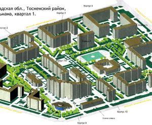 ЖК «в посёлке Тельмана» : визуализация