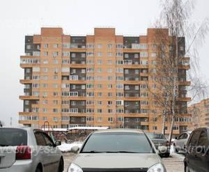 Вид с автостоянки на ЖК «Дом на ул. Ленинградская, 14»  (25.12.12)