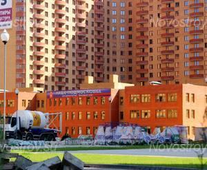 Строящийся детский сад около ЖК «Дом на ул. Октября, вл. 2»