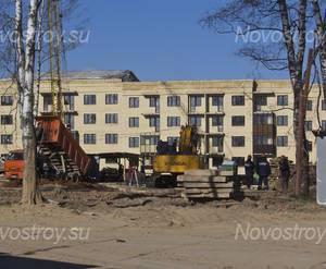 Строительство ЖК «Нахабино сквер» (30.04.2014)