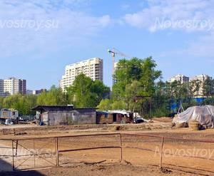 Строительная площадка ЖК «Garden Park Эдальго» (02.05.2014)