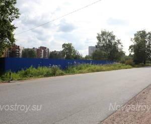 Место строительства ЖК «Петергофская Усадьба» (04.08.2014)