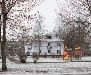 Детская площадка в районе ЖК «Ладожский берег» (05.12.2014)