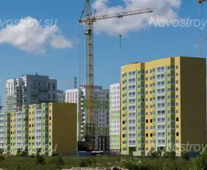 ЖК «Янино парк»: общий вид с дороги (28.06.2015)