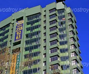 ЖК «на Циолковского»: 24.08.2015 - Фрагмент корпуса, верхние этажи