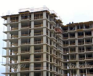ЖК «Дом на Доннинском шоссе»: 09.09.2015 - Фрагмент строящегося корпуса, верхние этажи