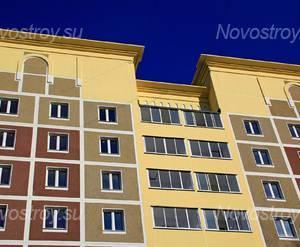 ЖК «Голицын Парк»: 21.09.2015 - Фрагмент построенного корпуса, верхние этажи