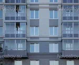 ЖК «Новомосковский»: фасад д. 65 кор. 1 (21.10.2015)