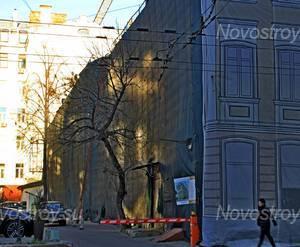 ЖК «Остоженка, 12»: 06.11.2015 - Фрагмент дома со двора