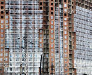 ЖК «Академик 2»: 12.11.2015 - Фрагмент строящегося корпуса, средние этажи