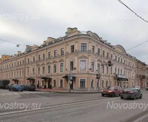 ЖК «Особняк Кушелева-Безбородко»: общий вид с наб. Кутузова (12.11.2015)