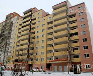 ЖК «Дом в Ногинске»: 18.12.2015 - Строящийся дом, вид со двора