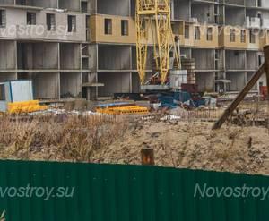 ЖК «Шлиссельбургский дворик»: фундамент 1 корпуса (20.12.2015)