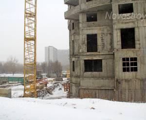 ЖК «Новые Черёмушки»: 02.02.2016 - Стройплощадка, активность на ней отсутствует
