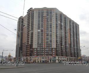 ЖК «Дом на Коломяжском, 15-1»: вид с Коломяжского пр. (10.02.2016)