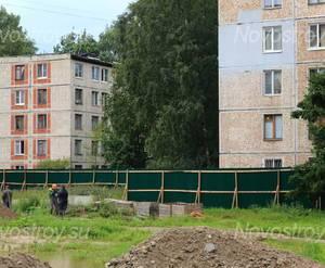 ЖК «Дом на улице Красных Партизан»: строительная площадка.
