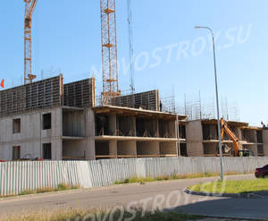 Малоэтажный ЖК «Новый Петергоф»: ход строительства корпуса №5.5