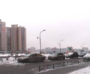 Вид с дороги на корпуса ЖК «Юбилейный квартал»