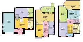 МЖК «Юрьев Сад», планировка 5-комнатной квартиры, 255.40 м²