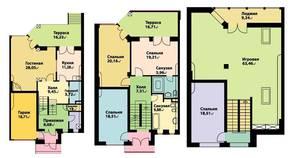МЖК «Юрьев Сад», планировка 5-комнатной квартиры, 312.60 м²