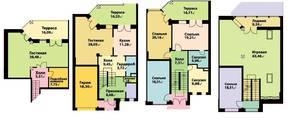 МЖК «Юрьев Сад», планировка 5-комнатной квартиры, 385.60 м²