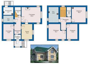 КП «Караськина охота», планировка 5-комнатной квартиры, 160.00 м²