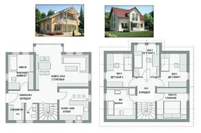 КП «Караськина охота», планировка 5-комнатной квартиры, 240.00 м²