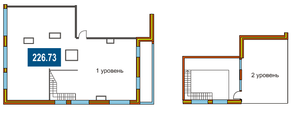 ЖК «На Яузе», планировка 5-комнатной квартиры, 226.73 м²