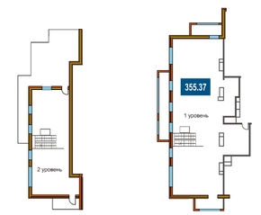 ЖК «На Яузе», планировка 5-комнатной квартиры, 355.37 м²