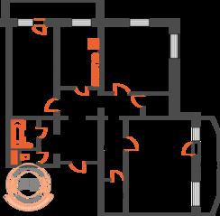 ЖК «Новый квартал», планировка 3-комнатной квартиры, 104.45 м²