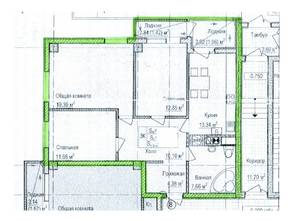 ЖК «Восток», планировка 3-комнатной квартиры, 85.00 м²