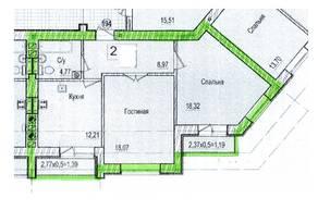 ЖК «Восток», планировка 2-комнатной квартиры, 66.70 м²