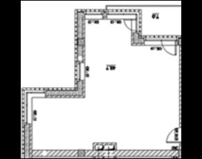 МФК «Loft River», планировка 1-комнатной квартиры, 49.10 м²