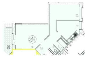 ЖК «Олимп» (Клин), планировка 2-комнатной квартиры, 49.90 м²