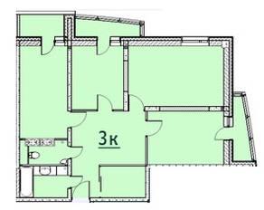 ЖК «Москвич», планировка 3-комнатной квартиры, 81.95 м²