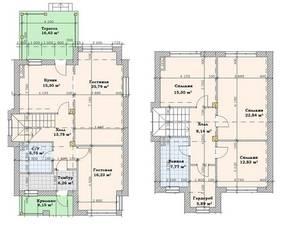 МЖК «Кутузово клаб», планировка 5-комнатной квартиры, 160.00 м²