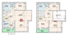 МЖК «Кутузово клаб», планировка 5-комнатной квартиры, 180.00 м²